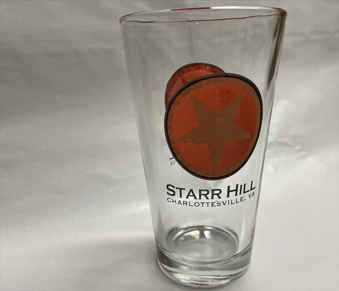 Sparkling clean Starr Hill pint glass on white paper