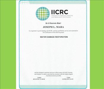 Joe Mara - IICRC Certified
