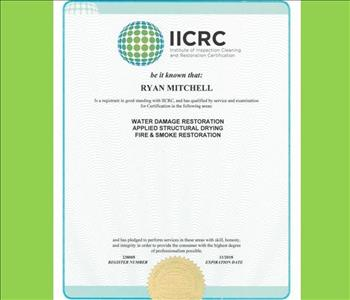 Ryan Mitchell - IICRC Certified