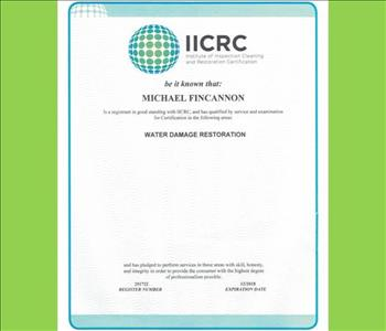 Mike Fincannon - IICRC Certified
