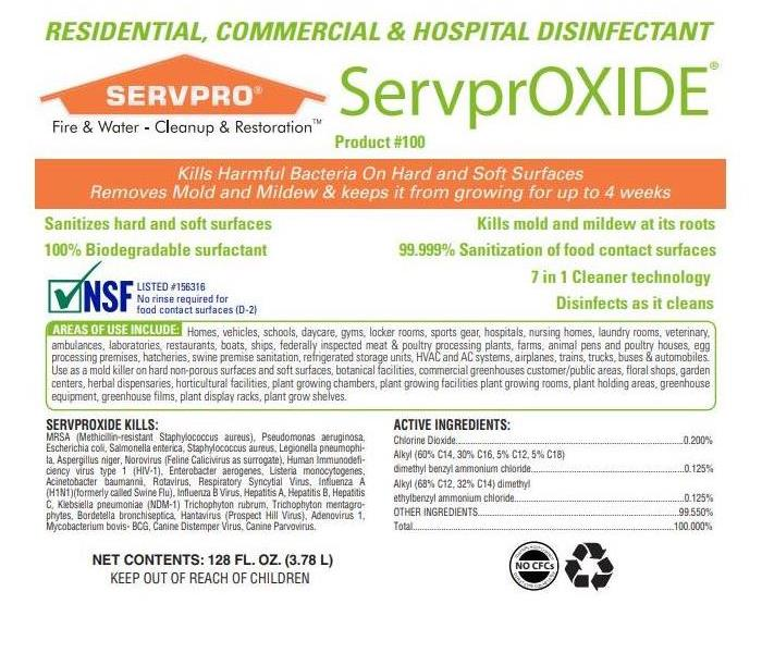 Written Information about ServprOXIDE