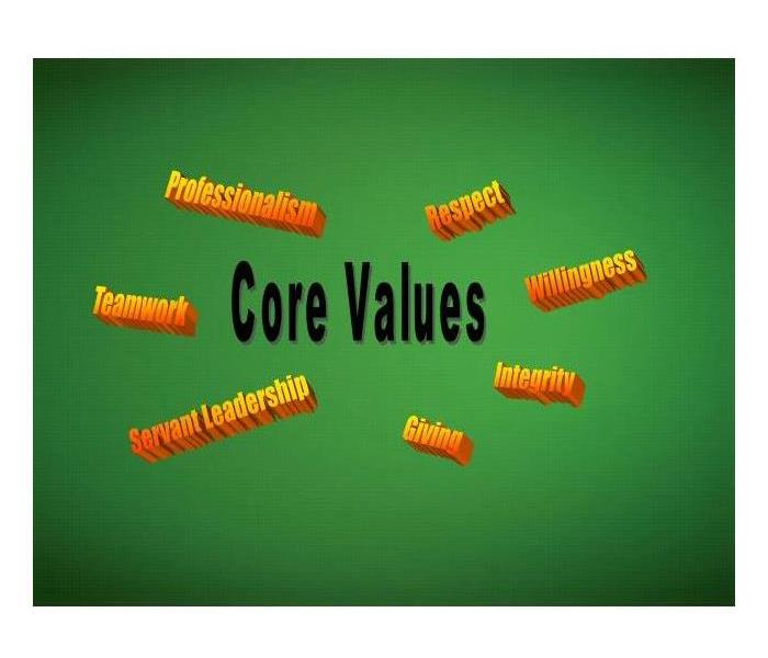 General SERVPRO of Charlottesville's Core Values